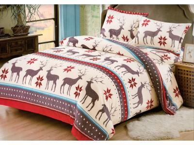 Lenjerie pentru pat de 2 persoane pufoasa Cocolino YY46
