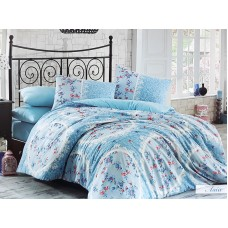 Lenjerie pentru pat matrimonial HOBBY Bumbac Ranforce - cod HB109