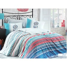 Lenjerie pentru pat matrimonial HOBBY Bumbac Ranforce - cod HB110