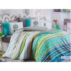 Lenjerie pentru pat matrimonial HOBBY Bumbac Ranforce - cod HB28