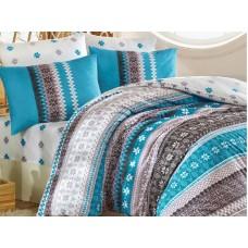 Lenjerie pentru pat matrimonial HOBBY Bumbac Ranforce - cod HB37