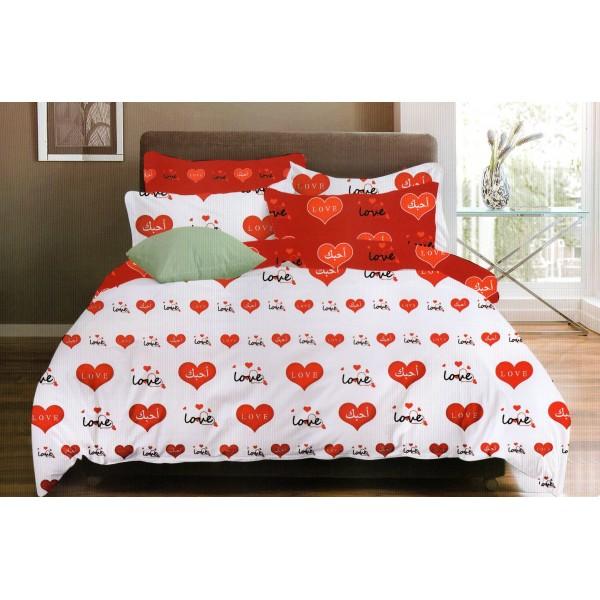 Lenjerie de pat dublu - Bumbac FINET - 2 persoane - KPF606